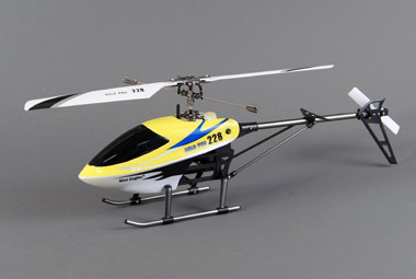 Вертолет Single helicopter yellow 228A