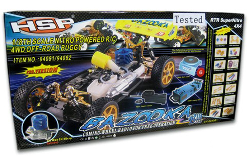 Bazooka18 4WD Buggy WSH21 Engine W2.4Ghz Transmitter80226G